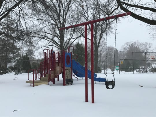 Gregory Manor Park in Clifton was quiet at midday on Tuesday, even though schools were closed.