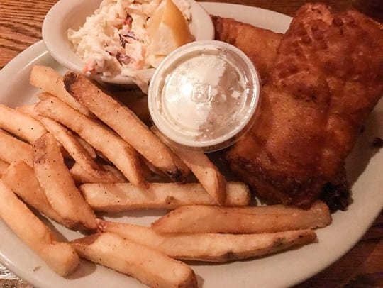 Fish and chips at Mulconry's in Fairport