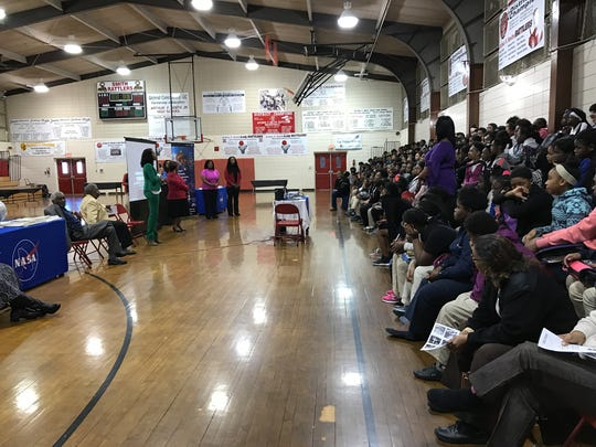 Women who work at NASA's Stennis Space Center visited Arthur F. Smith Middle Magnet School Wednesday to talk to girls about STEM careers.