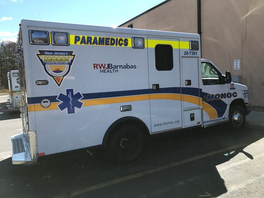 A MONOC ambulance at the headquarters in Wall.