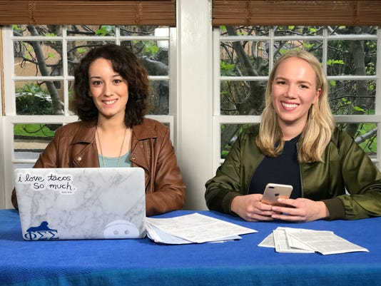 Left to right Maya Castro, 22 and Flora Anderson, 27