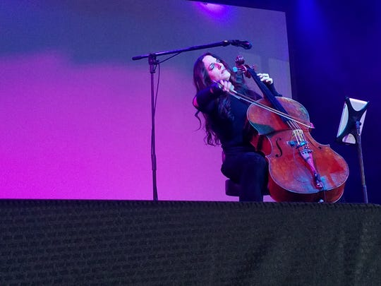 Cellist Maya Beiser performs at the Mill & Mine as a part of the 2017 Big Ears Festival.