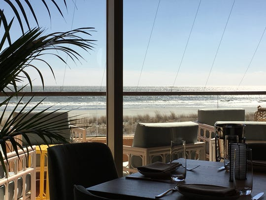 Sweeping ocean views complement the seafood-based menu