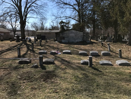 Martin J. Ryerson's family burial