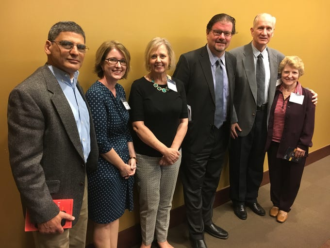 Columnist Jonah Goldberg meets with a group of Tallahassee