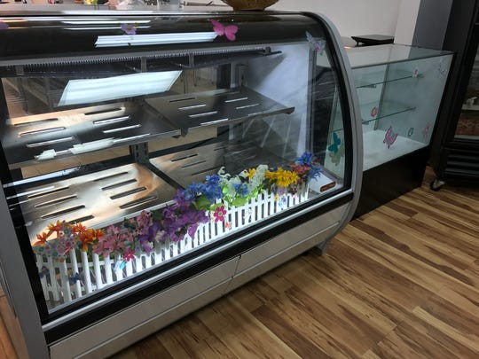 The case at the new Hibernia Old World Bakery in Loveland. The bakery celebrates its grand opening on April 8.
