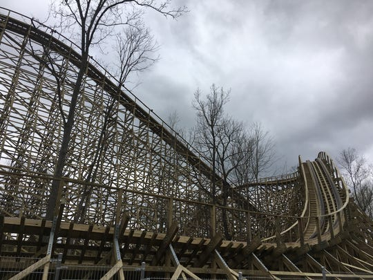 Mystic Timbers, the new wooden roller coaster at Kings