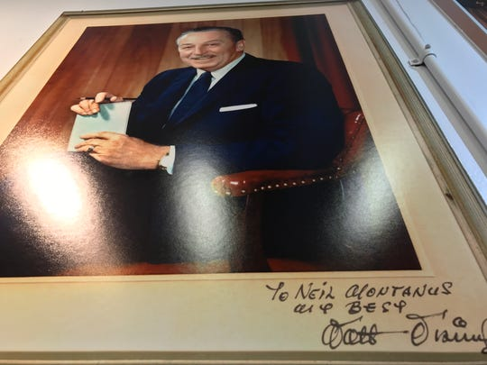 A portrait by Neil Montanus signed by Walt Disney.