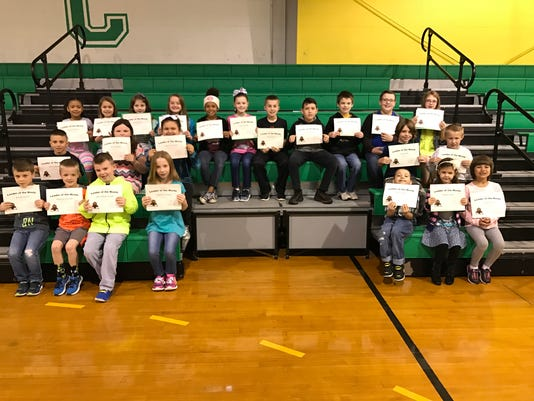 Cairo Elementary March leaders of the month