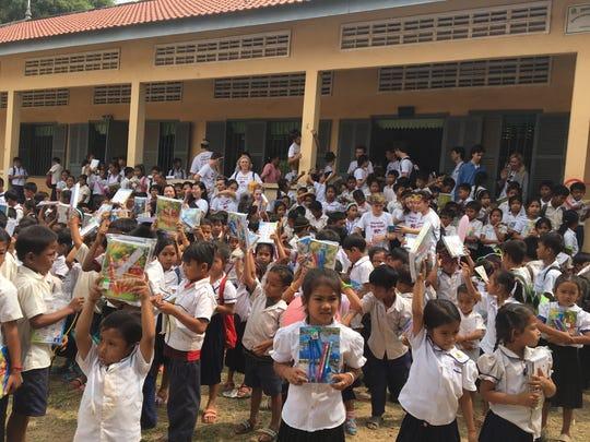 Children in the Cambodia school where Ridgewood students