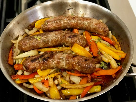 Keep those grass-fed Italian sausages juicy by reducing