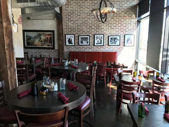 The 35-seat interior at the new Cacciatore at Heller's