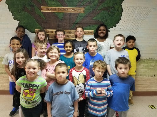 Jefferson Elementary March leaders of the month