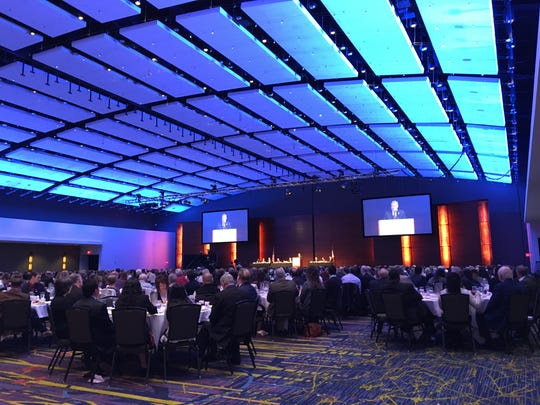 About 900 people attended the 56th annual Iowa Prayer Breakfast on Thursday, April 13, 2017, in Des Moines.