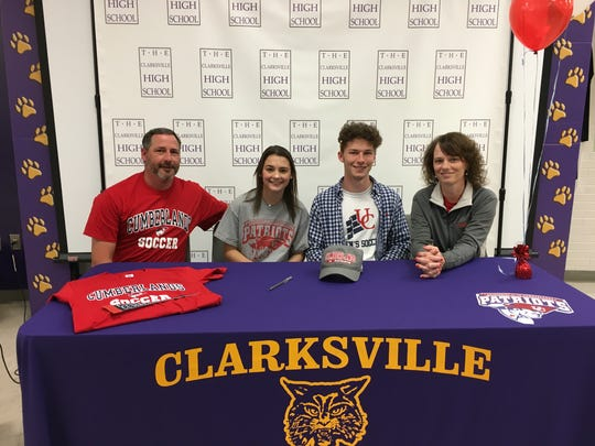Clarksville High's Ryan Gasaway (second from right)