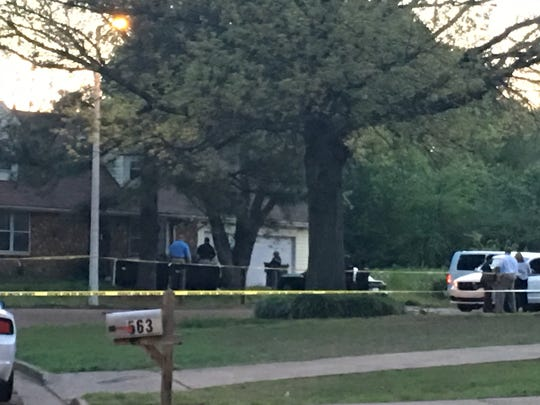 Memphis police investigate double homicide at home on Shallow Wood Court Thursday morning. Two sisters shot and killed early Thursday, April 13, 2017 in a domestic violence incident.
