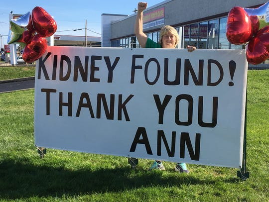 Ann Mills thanks the community after finding a kidney