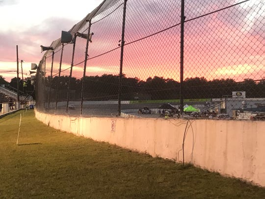 Sun sets at Five Flags Speedway