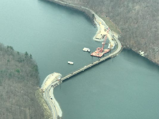 West Brook Road bridge on Wanaque Reservoir