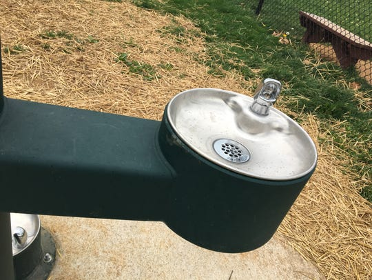 A regular water fountain at a new water fountain in