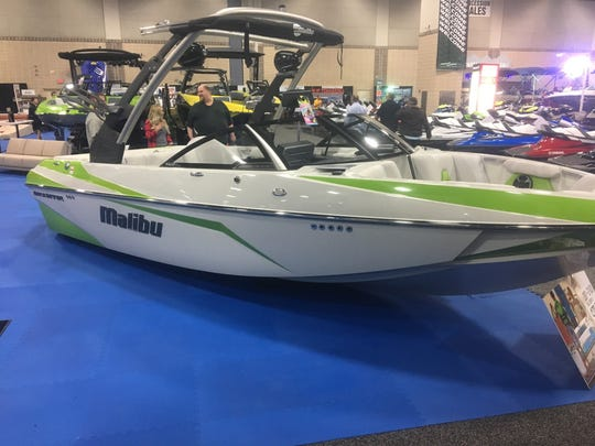 The Nautical Boat Club fleet features a variety of different boats, including this Malibu wake boat.