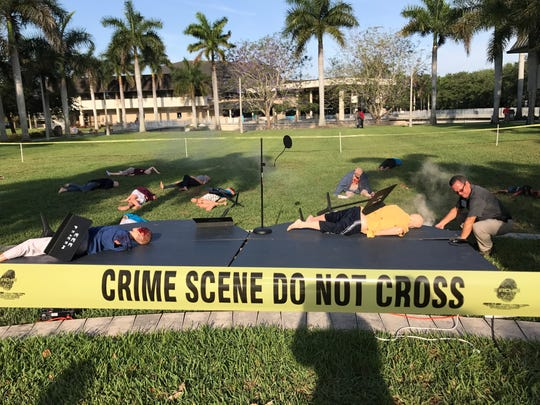Mannequins were used to play the dead during a mass casualty training exercise Thursday at Florida SouthWestern State College.