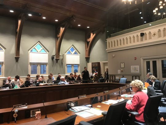 The Tompkins County jail study committee listens to