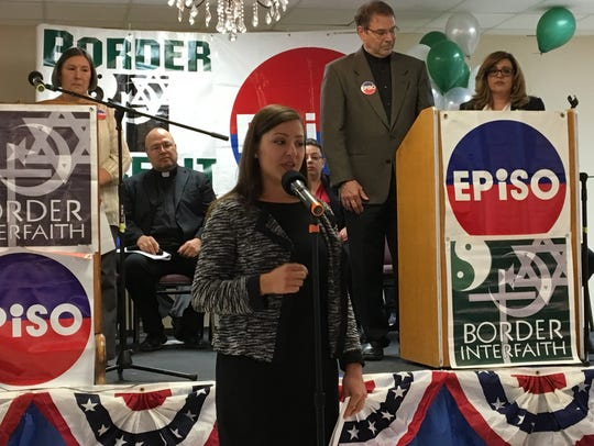 City Council candidate for District 4 Diana Ramos speaks