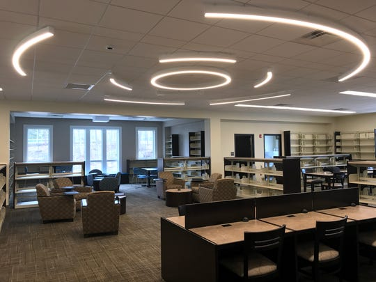 The center of the new West Milford library's south wing, as seen on April 24, 2017. The first part of the move will close the existing library from May 2 through 4.