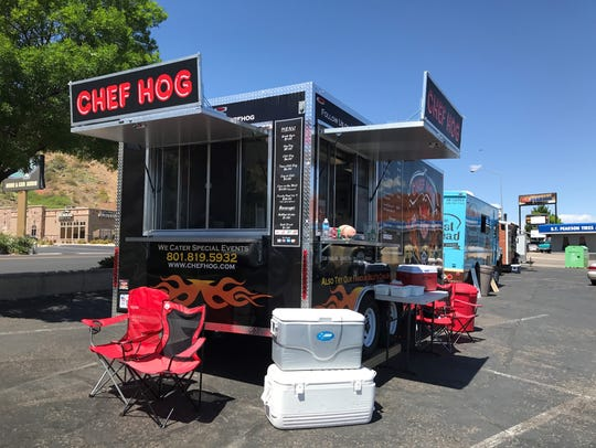 The chef behind Chef Hog formerly worked for a lodge