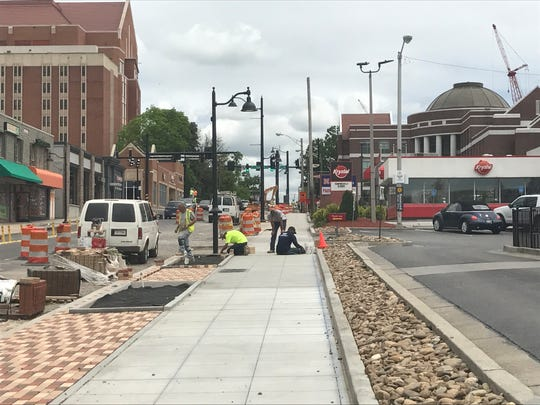 Construction along Cumberland Avenue temporarily closed the Krystal restaurant in April.