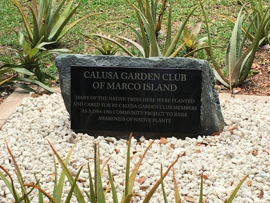 The plaque was donated by Dr. Carlos Portu.
