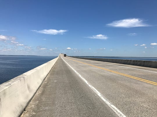 A view of the Garcon Point Bridge in Santa Rosa County, looking north, on Tuesday, April 25, 2017.  Drivers who use the Garcon Point Bridge will not see lower tolls in the near future, and, according to one state lawmaker, they could even see an increase.