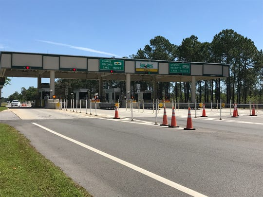 The toll plaza for the Garcon Point Bridge in Santa Rosa County.