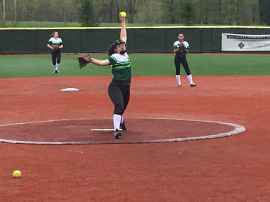 Freshman left-hander Sophia Berger has been one half of a pitching rotation that's provided some stability in the circle for Ridge
