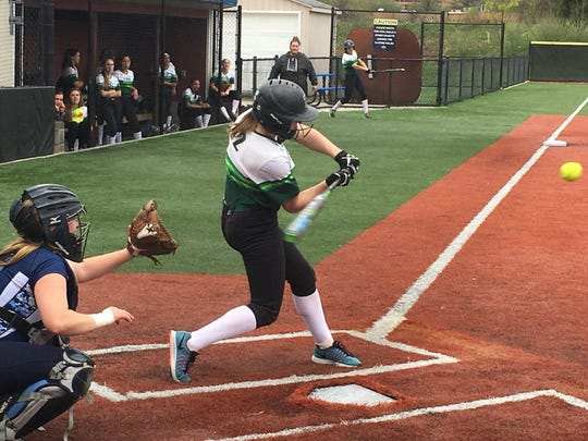 Junior Kristin Miscia is hitting .588 with five home runs through Wednesday's game
