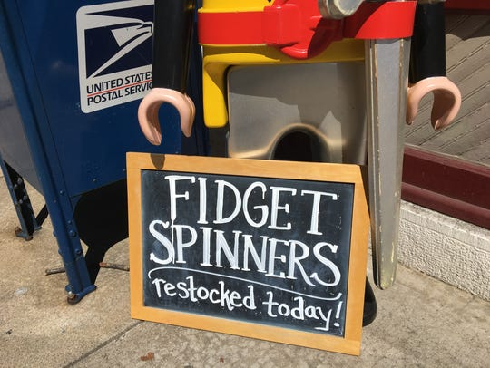 At Pufferbellies Toys and Books, fidget spinners have