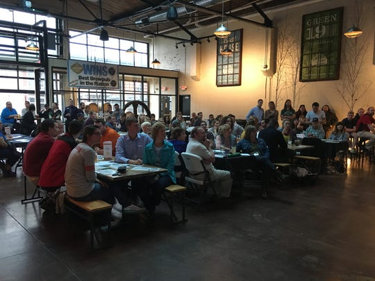 More than 100 people attended the third Green Bay SOUP program Tuesday at the Titletown Tap Room. The group raised $1,000 and selected the recipient from five projects presented at the event.