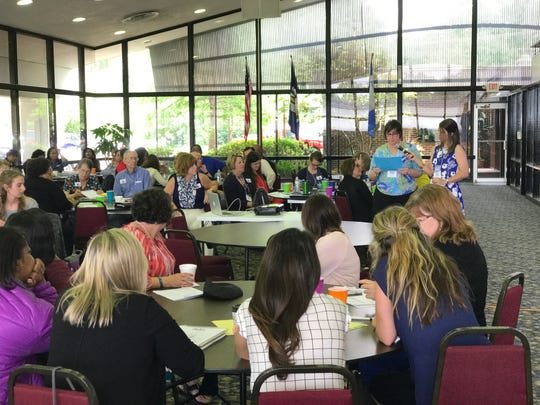 Professionals who attended training in Pineville Wednesday