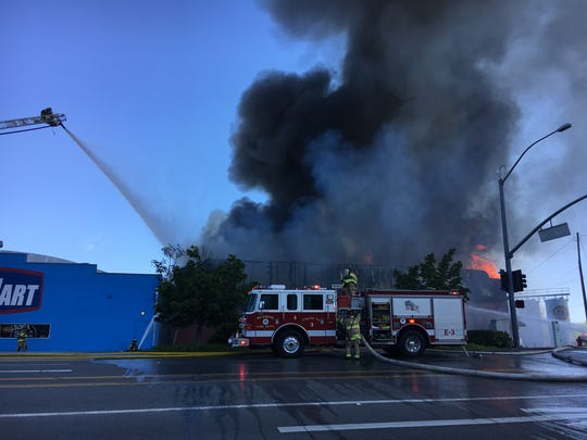 A fire was reported at Bedmart on Wyndham Lane.