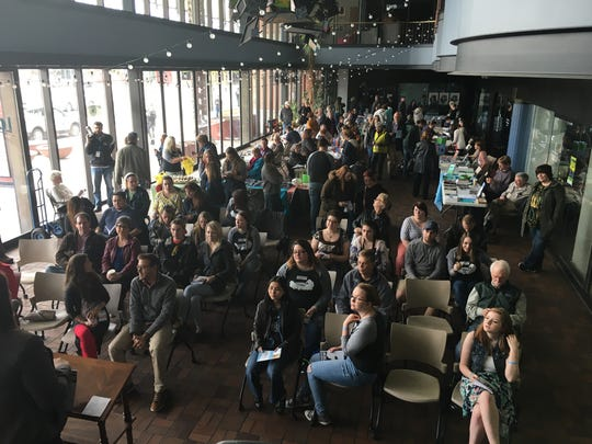 The Sheepshead Review, UW-Green Bay's literary magazine, held a launch party Saturday as part of the UntitledTown Book Fair at Old Fort Square.