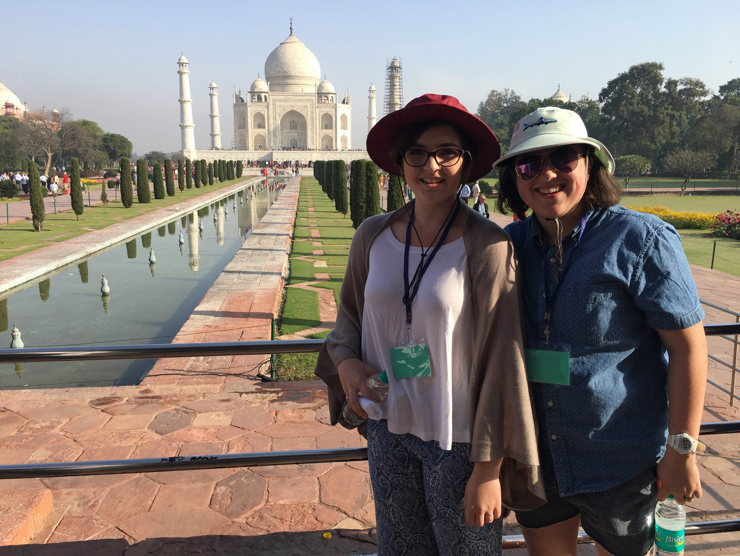 Nicole and me at the Taj Mahal.