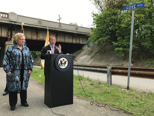 U.S. Rep Josh Gottheimer infrastructure press conference