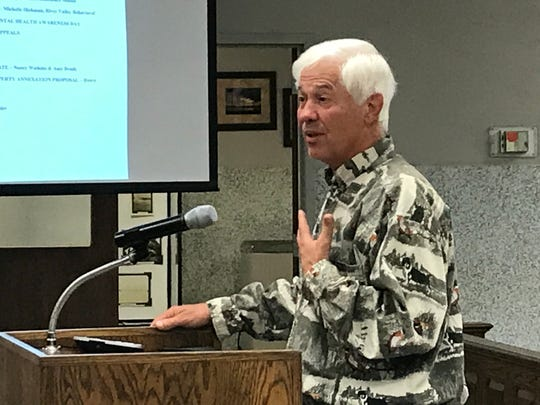 Property owner Gary Boswell addresses Fiscal Court