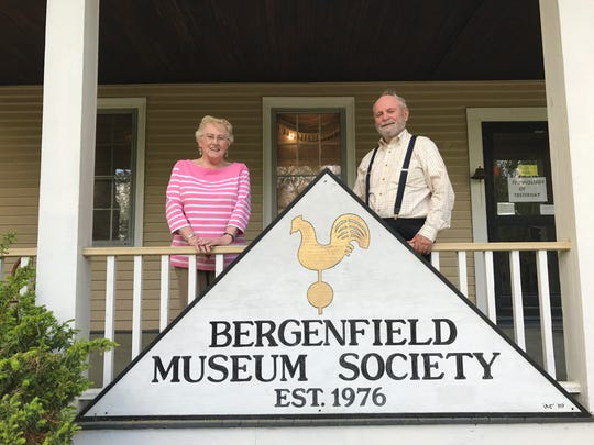 Joanne Thomas and Barry Doll, president and vice president, respectively, of the Bergenfield Museum Society.