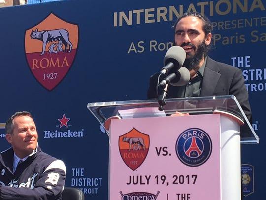 Former Paris Saint-Germain player Juan Pablo Sorin,