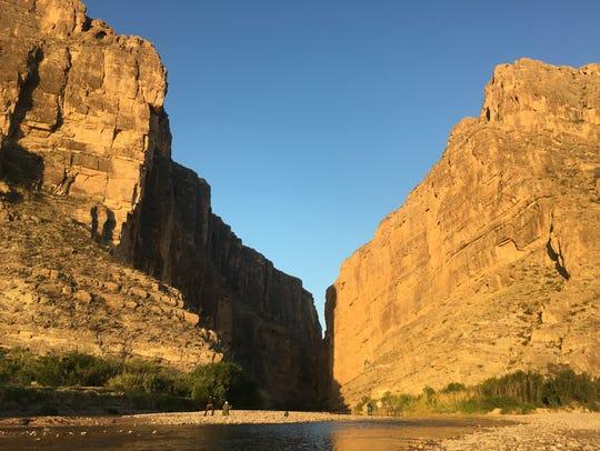 The walls of Santa Elena Canyon in Big Bend National
