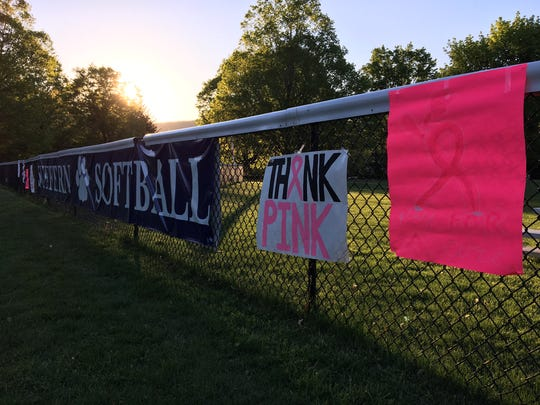 Suffern held its annual Breast Cancer Awareness softball game on May 3, 2017.