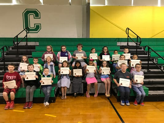 Cairo Elementary April leaders of the month