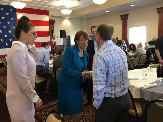 U.S. Sen. Amy Klobuchar headlined the Polk County Democrats' spring fundraiser in Des Moines on Sunday.
